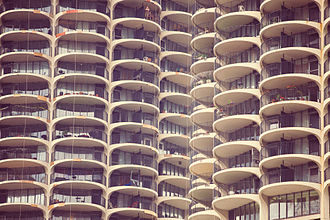 Stock photography - Example of a public domain stock photo, showing the Marina City building complex in Chicago.