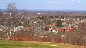Rockville, Connecticut - Downtown Rockville from Fox Hill in 2015