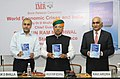 Dr. D. Bhalla, IAS, releasing the book World Economic Crises and India, in the presence of the Minister of State for Finance and Corporate Affairs, Shri Arjun Ram Meghwal, in New Delhi on March 30, 2017.jpg