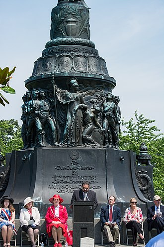 Confederate Memorial Day - Confederate Memorial Day observance in front of the Monument to Confederate Dead, Arlington National Cemetery, on June 8, 2014.