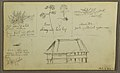 Drawing, A Fort; Verso- Botanical Sketches, House, 1857 (CH 18201935-2).jpg