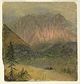 Drawing, Alpine study of a sunset, July 1868 (CH 18202279).jpg