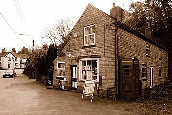 English: Draycott-in-the-Moors Post Office. (n...