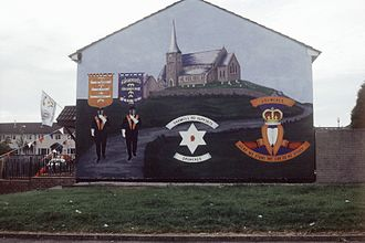 David Trimble - A mural in Northern Ireland supporting the Portadown Orangemen