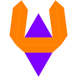 Elongated triangular bipyramid - Image: Dual elongated triangular dipyramid net