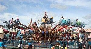Dumbo the Flying Elephant - Dumbo the Flying Elephant at Magic Kingdom, before the new Fantasyland expansion