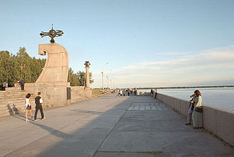 Northern Dvina River - Northern Dvina Quay in Arkhangelsk