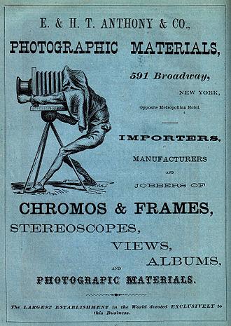 Edward Anthony (photographer) - Image: E. & H.T. Anthony & Co. Display Ad 1870