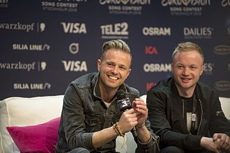 Ireland in the Eurovision Song Contest 2016 - Nicky Byrne during a press meet and greet