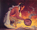 Eanger Irving Couse - Indian by Firelight.jpg