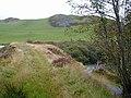 Earth dam which created Llyn Frongoch. - geograph.org.uk - 52013.jpg