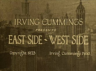East Side - West Side - Title card from the film