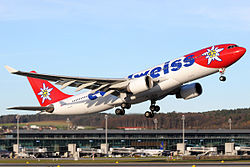 Edelweiss Air A330-200 HB-IQI taking off from ZRH.jpg