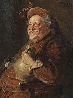 Eduard von Grützner - Eduard von Grützner's Falstaff (1906)