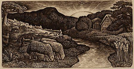 Edward Calvert The Sheep of his Pasture c1828 Tate Britain.jpg