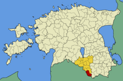 Taheva Parish within Valga County.