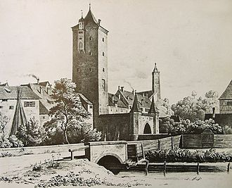 Xaver Hohenleiter - Tower of the Ehingen Gate in Biberach; place where Hohenleiter was held captive