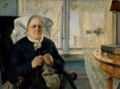 Eilif Peterssen - Portrait of Mor Utne - Mor Utne - Nasjonalmuseet - NG.M.00358.png