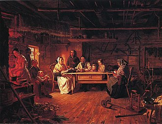Robert Wilhelm Ekman - Image: Ekman, Sunnuntaiaamu talonpoikaistuvassa