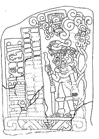 Cotzumalhuapa - Stela 1, from El Baúl, with the Mesoamerican Long Count calendar date of 7.19.15.7.12.