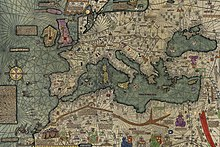 A part of the Catalan Atlas by Cresques Abraham and his son Jehuda Cresques