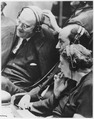Eleanor Roosevelt, Adlai Stevenson, and John Foster Dulles at United Nations in New York City - NARA - 196502.tif