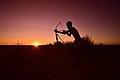 Elia Fester, Kalahari Khomani San Bushman, Boesmansrus camp, Northern Cape, South Africa (20517110466).jpg