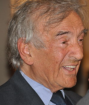 Elie Wiesel speaking at the World Economic For...