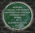 Elizabeth Jesser Reid blue plaque.jpg