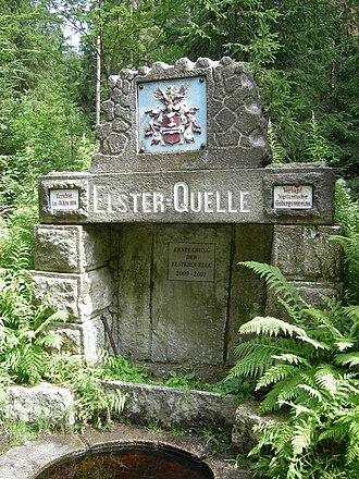 White Elster - Image: Elster Quelle, Aš
