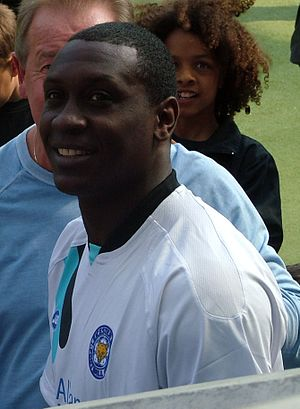 Emile Heskey - Heskey in Leicester City colours during an event at the club's ground in 2006