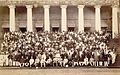 Employees of The Times of India pose on the steps of Bombay Town Hall on the occasion of the newspaper's Diamond Jubilee, November 1898.jpg