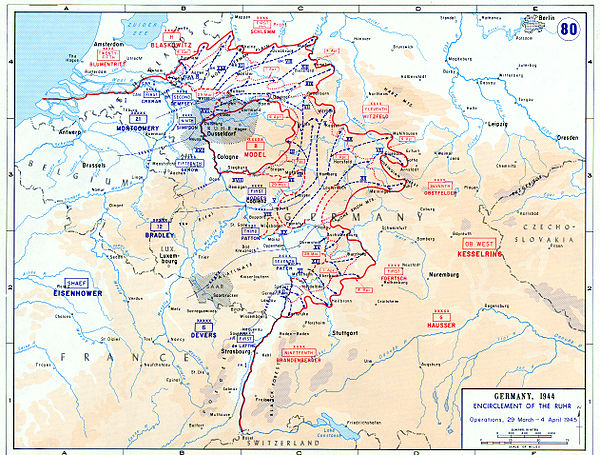Encirclement of the Ruhr and other Allied operations between 29 March and 4 April 1945 Encirclement of the Ruhr.jpg