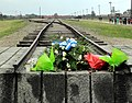 End of the railway line, Auschwitz-Birkenau, 2012 (2).jpg
