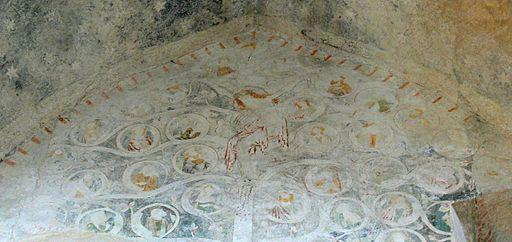 Enns Johanniterkapelle - Fresko 4 Christus am Lebensbaum