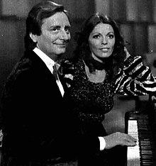 Valeria Fabrizi con Enrico Simonetti