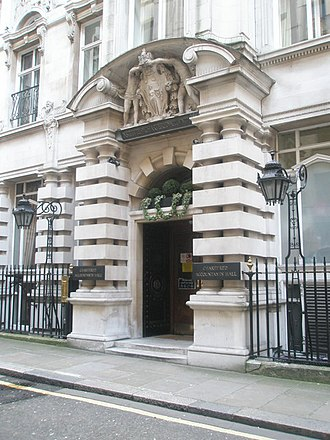 Chartered Accountants' Hall - Entrance to Chartered Accountants Hall in Moorgate Place