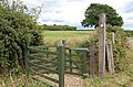 Entrance to field and Footpath, Three Oaks - geograph.org.uk - 889996.jpg