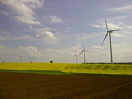 The wind farm in Is-en-Bassigny