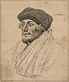 Erasmus. Drawing, c. 1792, after H. Holbein. Wellcome V0009254.jpg