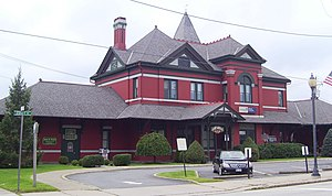 Port Jervis, New York - The Erie Depot, built in 1892, was the largest station on the Erie Railroad's Delaware Division. The Erie ceased long-distance passenger service in 1970. The depot was recently restored and houses some retail shops.