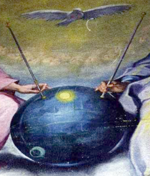 Ventura Salimbeni - Celestial sphere of the Disputa', often mistaken for the Sputnik satellite'