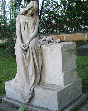 Anna Yesipova - Yesipova's grave in the cemetery of Alexander Nevsky Lavra.