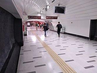 Plaza de Armas metro station - Level of combination between lines 3 and 5.