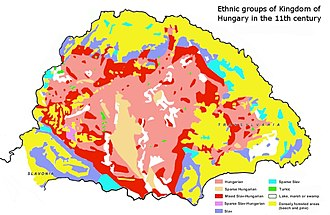 Hungarians - Image: Ethnic map of 11th century