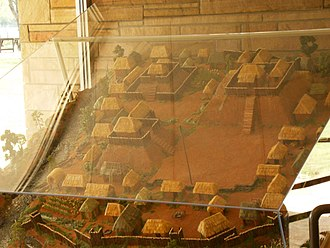 Etowah Indian Mounds - Image: Etowah Model