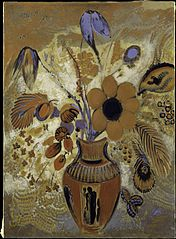 Etruscan Vase with Flowers