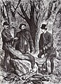 Eugen Homeyer, Alfred Brehm és Rudolf trónörökös sasvadászaton 1878.jpg