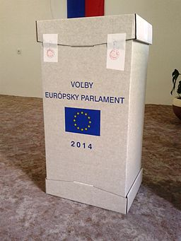 European Parliament election, 2014 (Slovakia) ballot box