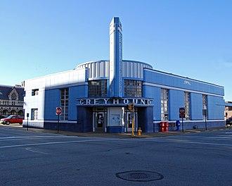 William Strudwick Arrasmith - Image: Evansville Indiana Greyhound Bus Station